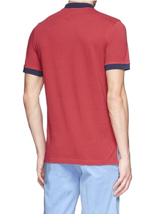 Back View - Click To Enlarge - Moncler Grenoble - Contrast collar cotton polo shirt