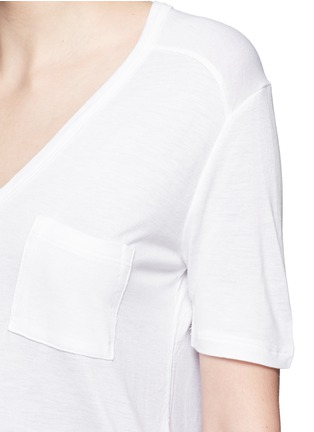 Detail View - Click To Enlarge - T By Alexander Wang - Chest pocket T-shirt