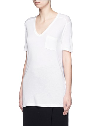 Front View - Click To Enlarge - T By Alexander Wang - Chest pocket T-shirt
