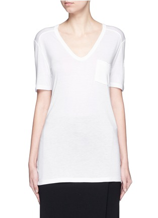 Main View - Click To Enlarge - T By Alexander Wang - Chest pocket T-shirt