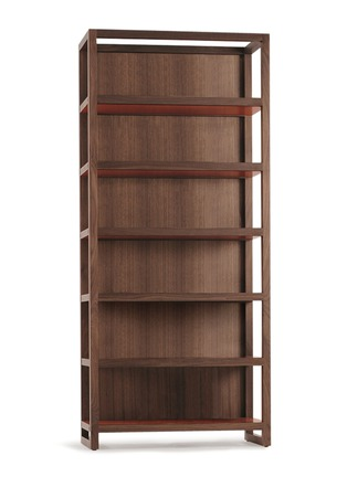 Main View - Click To Enlarge - Joined + Jointed - Finnieston walnut wood bookcase