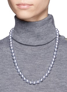 Kenneth Jay Lane Coated glass pearl necklace