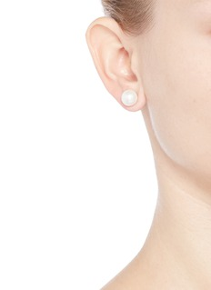 Kenneth Jay Lane Medium glass pearl stud earrings