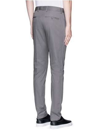 Back View - Click To Enlarge - LANVIN - Slim fit ribbon stripe chinos