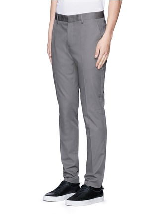 Front View - Click To Enlarge - Lanvin - Slim fit ribbon stripe chinos