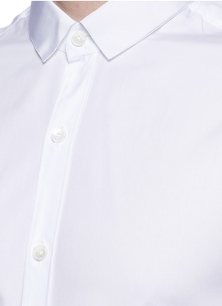Detail View - Click To Enlarge - Lanvin - Slim fit grosgrain collar shirt