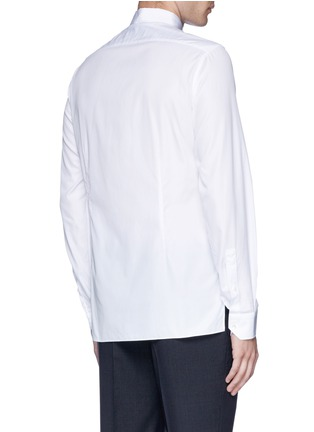 Back View - Click To Enlarge - Lanvin - Slim fit grosgrain collar shirt