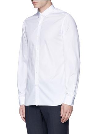 Front View - Click To Enlarge - Lanvin - Slim fit grosgrain collar shirt
