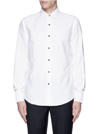 Main View - Click To Enlarge - Lanvin - Metal button tuxedo shirt