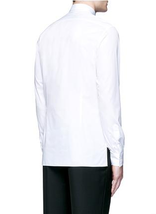 Back View - Click To Enlarge - Lanvin - Slim fit collar trim tuxedo shirt