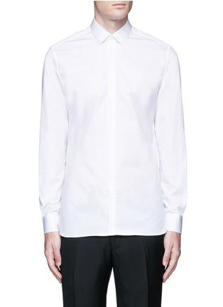 Main View - Click To Enlarge - Lanvin - Slim fit collar trim tuxedo shirt