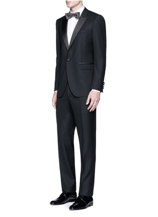 Figure View - Click To Enlarge - Lanvin - Slim fit collar trim tuxedo shirt