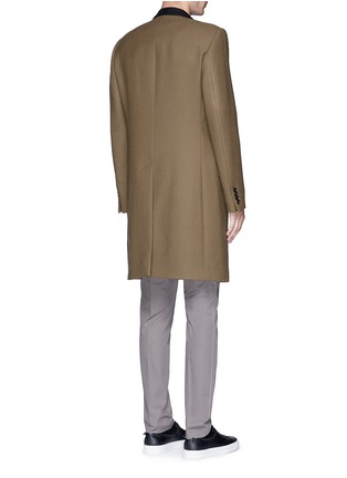 Back View - Click To Enlarge - LANVIN - Slim fit contrast collar wool coat
