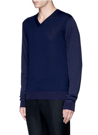 Front View - Click To Enlarge - Lanvin - Mixed media sweater