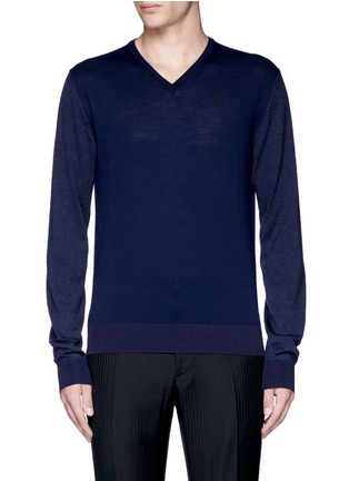 Main View - Click To Enlarge - Lanvin - Mixed media sweater