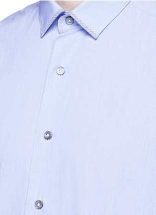 Detail View - Click To Enlarge - LANVIN - Slim fit contrast trim cotton shirt