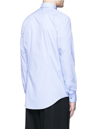 Back View - Click To Enlarge - LANVIN - Slim fit contrast trim cotton shirt
