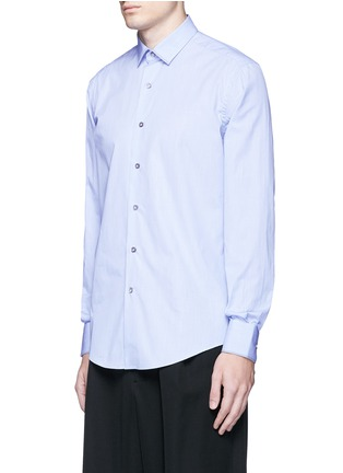 Front View - Click To Enlarge - LANVIN - Slim fit contrast trim cotton shirt