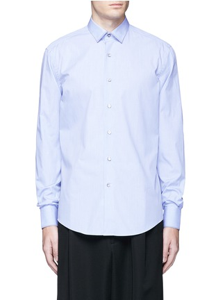 Main View - Click To Enlarge - LANVIN - Slim fit contrast trim cotton shirt
