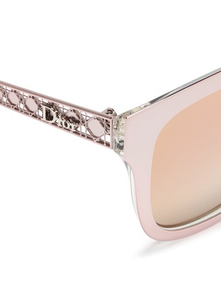 Detail View - Click To Enlarge - Dior - 'Diorama 1' metal openwork temple mirror sunglasses