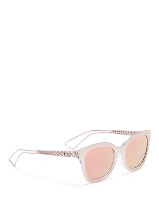 Figure View - Click To Enlarge - Dior - 'Diorama 1' metal openwork temple mirror sunglasses