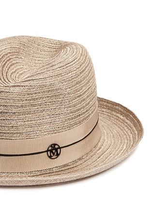 Detail View - Click To Enlarge - Maison Michel - 'Joseph' canapa straw fedora hat