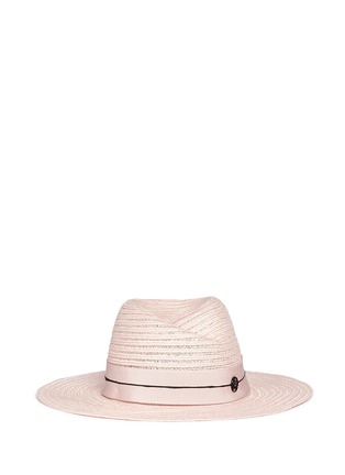 Main View - Click To Enlarge - Maison Michel - 'Virginie' petersham band canapa straw hat