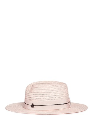 Figure View - Click To Enlarge - Maison Michel - 'Virginie' petersham band canapa straw hat