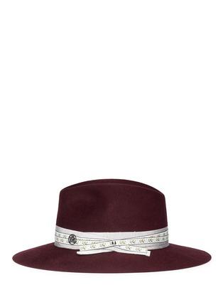Figure View - Click To Enlarge - Maison Michel - 'Henrietta' floral ribbon hare furfelt fedora hat