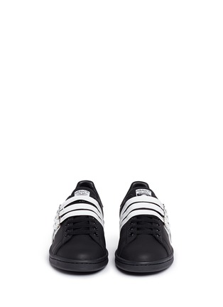 Front View - Click To Enlarge - Adidas - x Raf Simons 'Stan Smith' triple strap leather sneakers