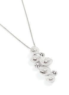 Lazare Kaplan Diamond 18k white gold floral pendant necklace
