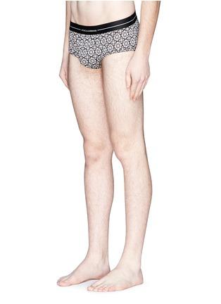 Figure View - Click To Enlarge - Dolce & Gabbana - 'Brando' tile print cotton briefs