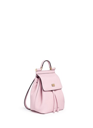 Front View - Click To Enlarge - Dolce & Gabbana - 'Miss Sicily' small grainy leather backpack