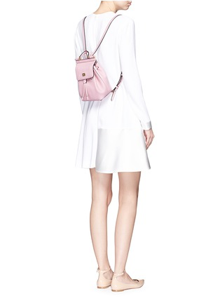 Figure View - Click To Enlarge - Dolce & Gabbana - 'Miss Sicily' small grainy leather backpack