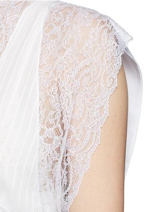 Detail View - Click To Enlarge - Givenchy - Silk crepe de Chine panel lace dress vest