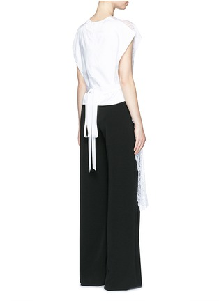 Back View - Click To Enlarge - Givenchy - Silk crepe de Chine panel lace dress vest