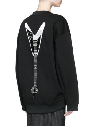 Back View - Click To Enlarge - Acne Studios - 'Beta' guitar patch appliqué sweatshirt