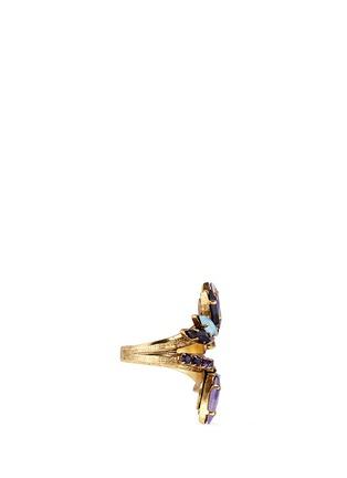 Detail View - Click To Enlarge - Erickson Beamon - 'Lady of the Lake' Swarovski crystal swirl ring