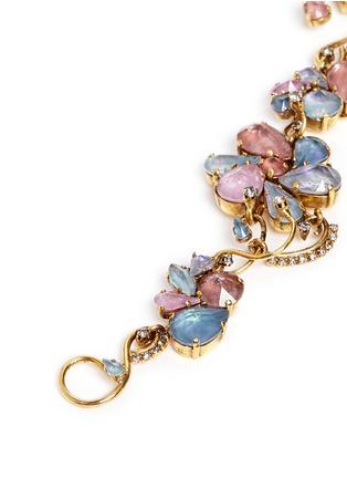 Detail View - Click To Enlarge - Erickson Beamon - 'Botanical Garden' Swarovski crystal floral bracelet
