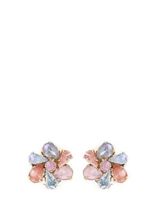 Main View - Click To Enlarge - Erickson Beamon - 'Botanical Garden' Swarovski crystal floral earrings