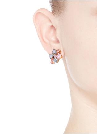 Figure View - Click To Enlarge - Erickson Beamon - 'Botanical Garden' Swarovski crystal floral earrings