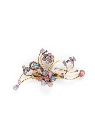 Main View - Click To Enlarge - Erickson Beamon - 'Botanical Garden' Swarovski crystal floral hair clip