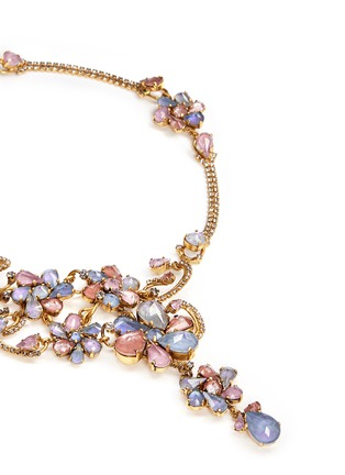 Detail View - Click To Enlarge - Erickson Beamon - 'Botanical Garden' Swarovski crystal floral necklace