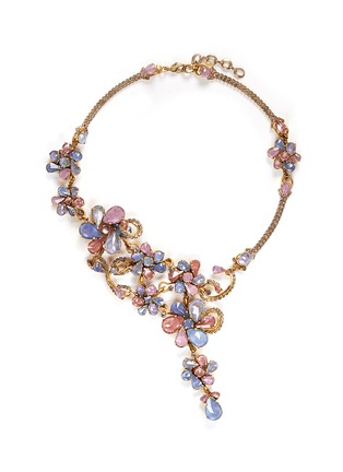 Main View - Click To Enlarge - ERICKSON BEAMON - 'Botanical Garden' Swarovski crystal floral necklace