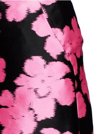 Detail View - Click To Enlarge - LANVIN - Floral jacquard duchesse satin skirt