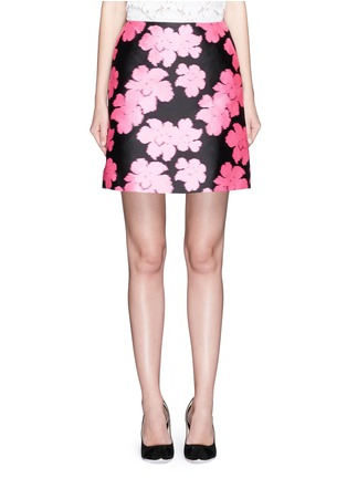 Main View - Click To Enlarge - LANVIN - Floral jacquard duchesse satin skirt
