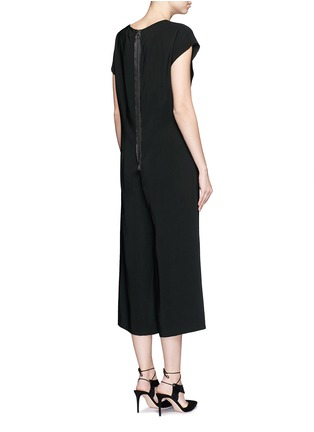 Back View - Click To Enlarge - Lanvin - V-neck crepe culottes jumpsuit