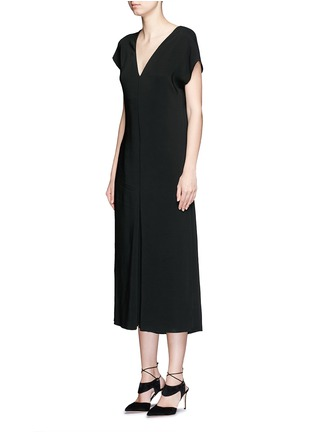 Front View - Click To Enlarge - Lanvin - V-neck crepe culottes jumpsuit