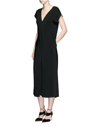 Figure View - Click To Enlarge - Lanvin - V-neck crepe culottes jumpsuit