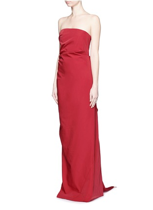 Front View - Click To Enlarge - Lanvin - Cascade ruffle strapless faille gown